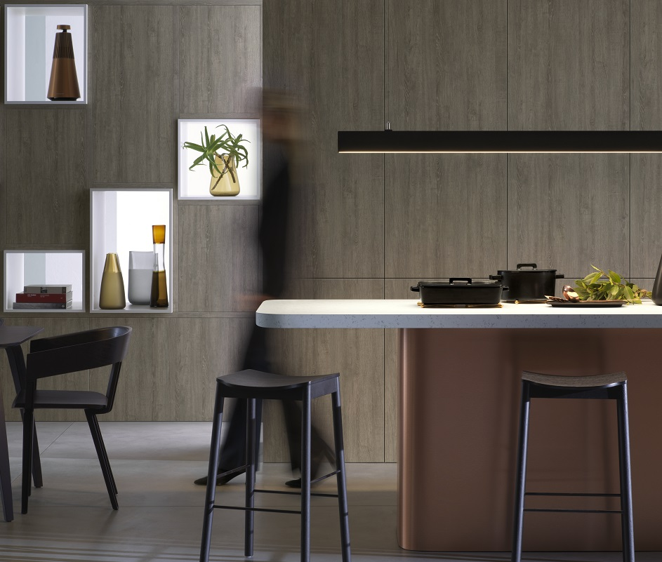 Chris Connell kitchen design using Laminex woodgrains