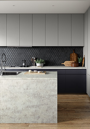 Laminex Dark Scheme kitchen
