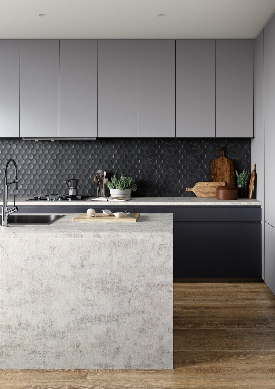 concrete-look-benchtop-in-inner-urban-style-kitchen