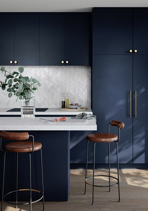 Laminex Made-to-Measure Doors and Panels  French Navy kitchen