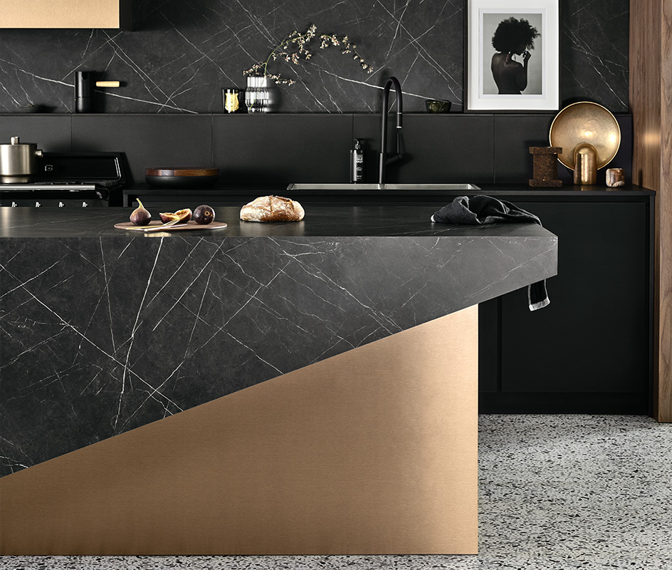 Minerals and metallics kitchen